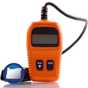 an automobile diagnostic tool - with Oregon icon