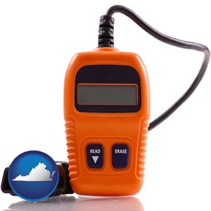 an automobile diagnostic tool - with Virginia icon